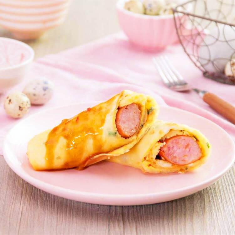 香肠鸡蛋卷饼