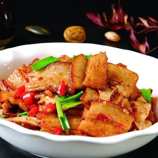 肉炒野芹菜香干