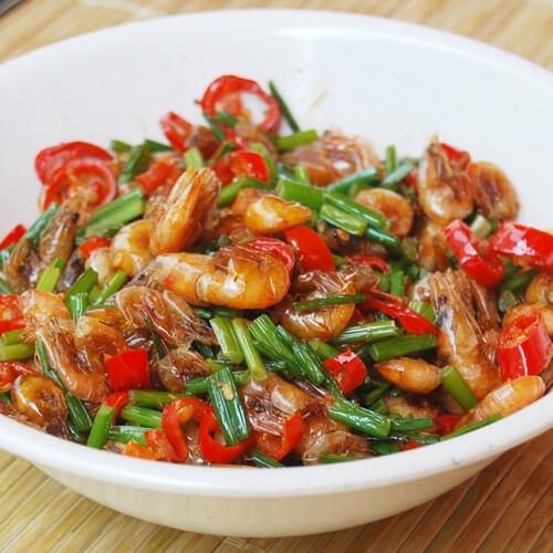 鲜香秋葵炒海虾