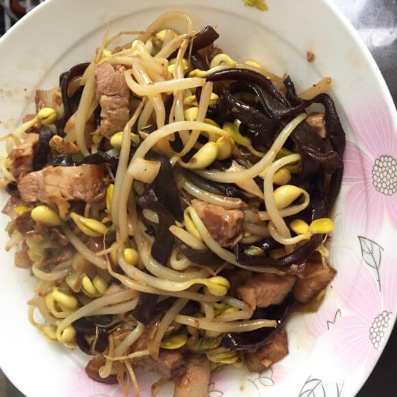 卤肉豆芽菜