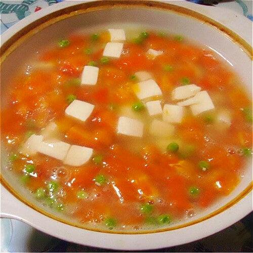 葱番茄豆腐汤