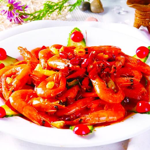 毛豆炒大头虾