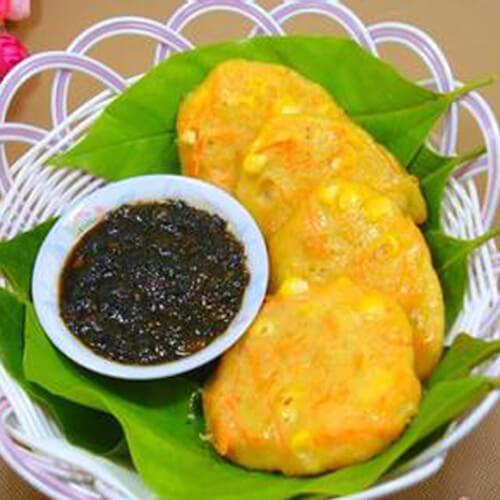 胡萝卜玉米饼