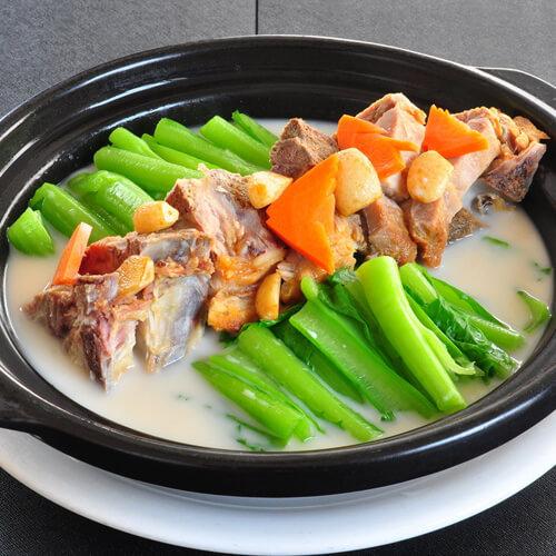 咸骨芥菜煲