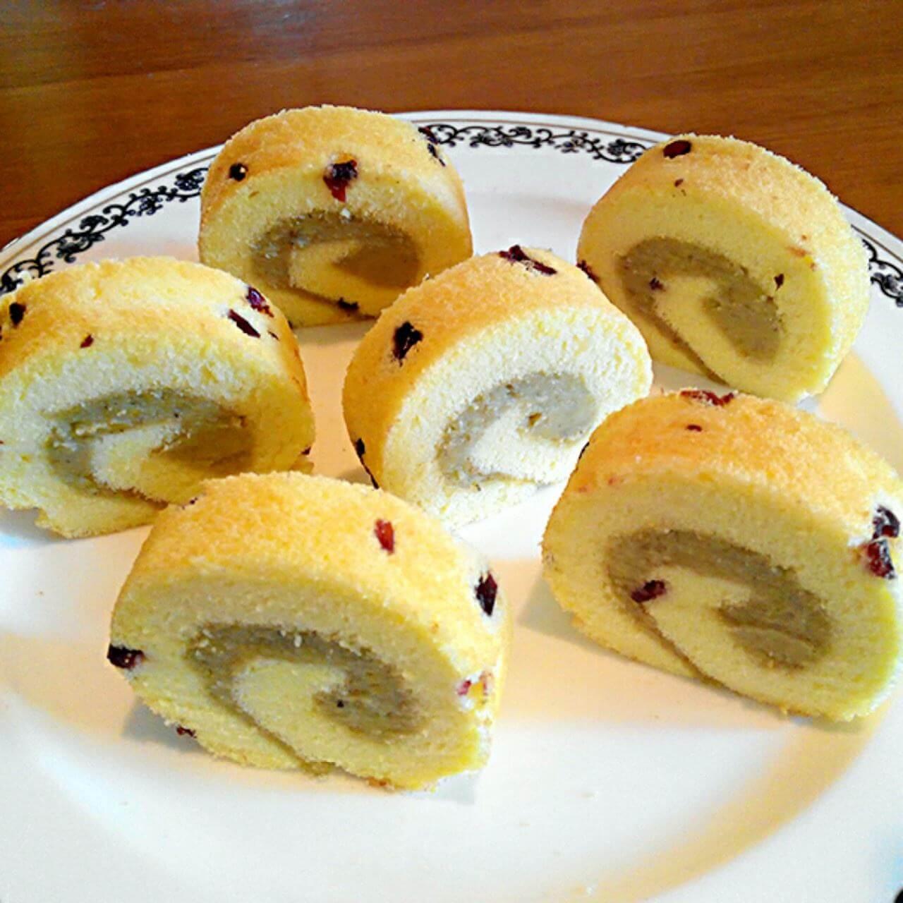 栗蓉奶油蛋糕卷