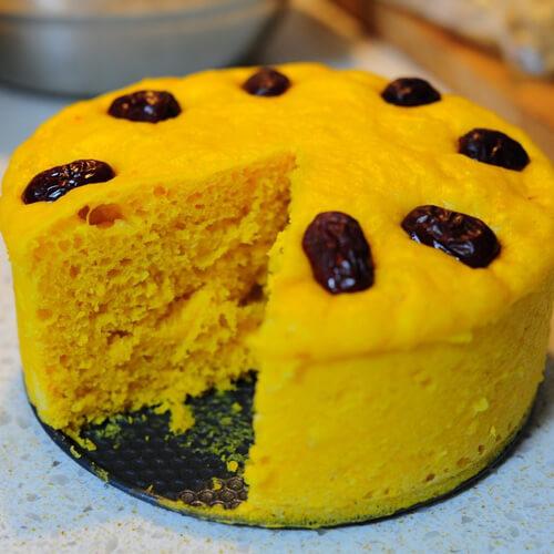 香软玉米面枣发糕
