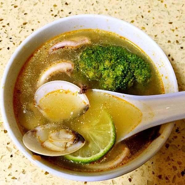 自制冬荫海鲜汤
