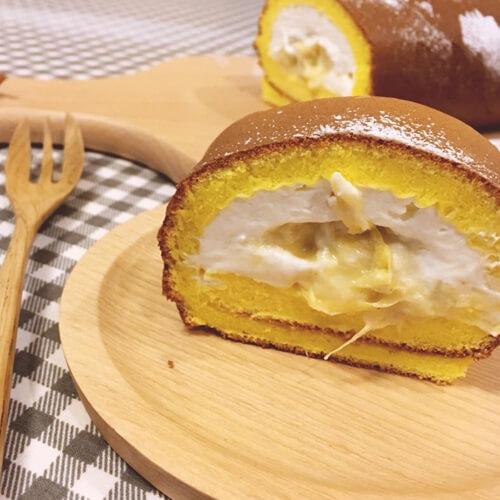香甜的榴莲轻奶酪蛋糕