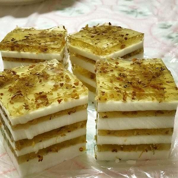 甜甜的糯米桂花糕