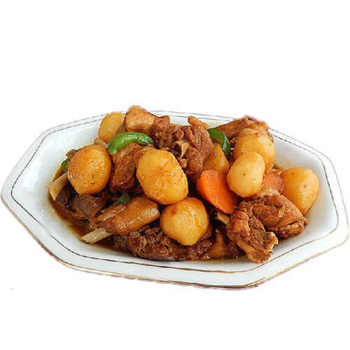 辣子鸡块炖小土豆