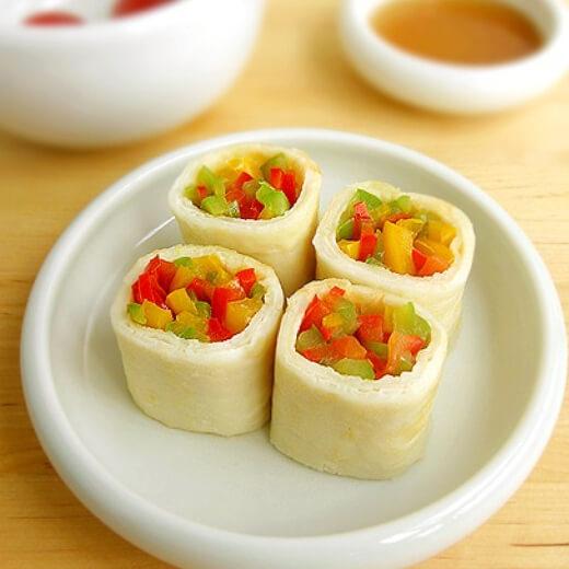 海鲜蔬菜鸡蛋卷