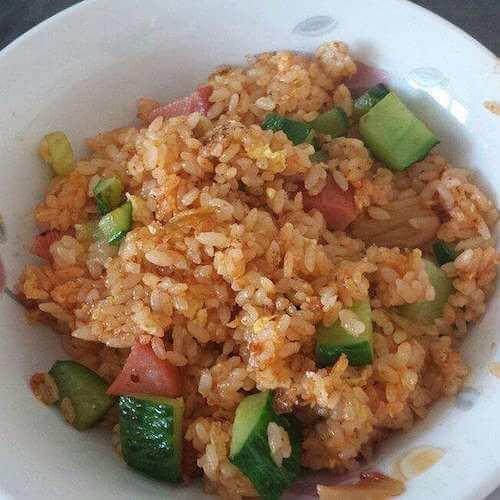 美味的韩式辣椒炒饭