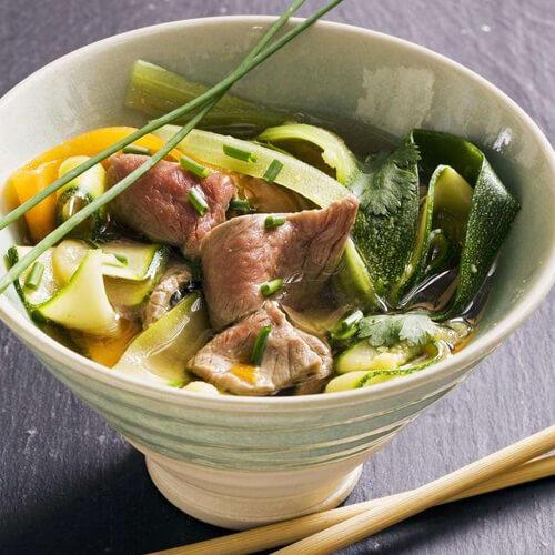 西葫芦白菜肉丸汤
