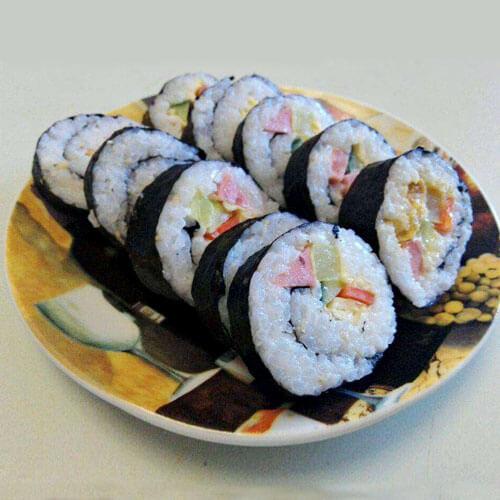 美味的寿司-紫菜包饭