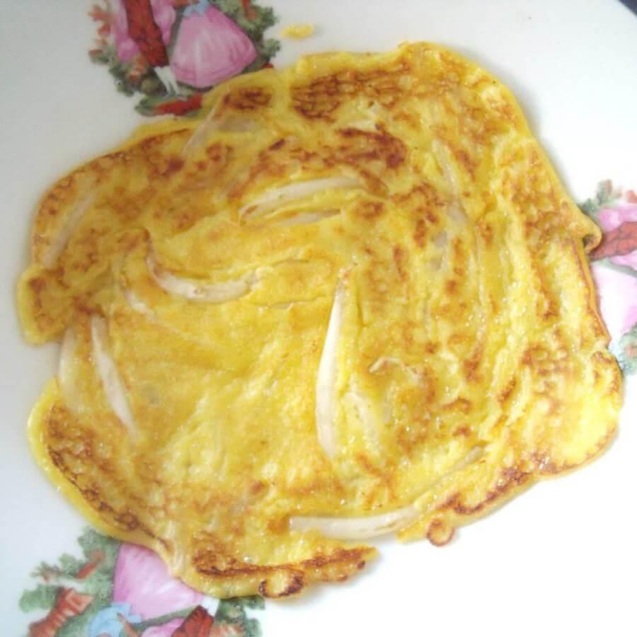 美味的鸡蛋豆芽饼