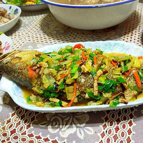白菜香菇鱼