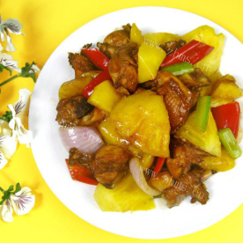 菠萝炒鸡肉