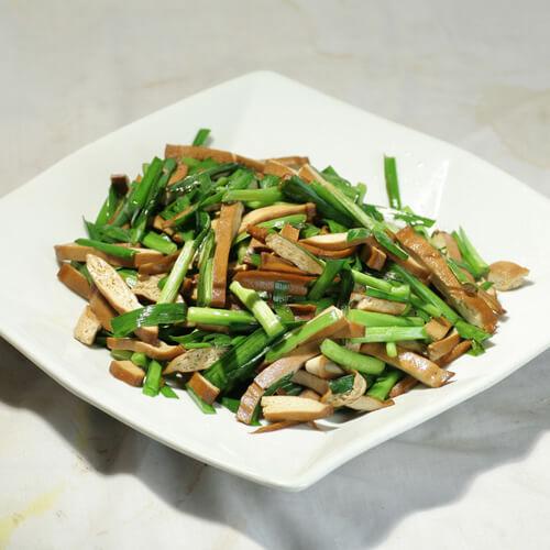 韭菜炒烟熏豆干