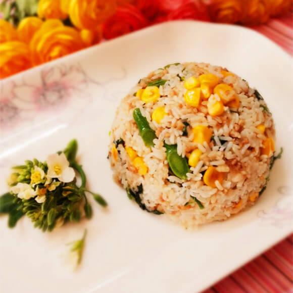 玉米肉末炒饭