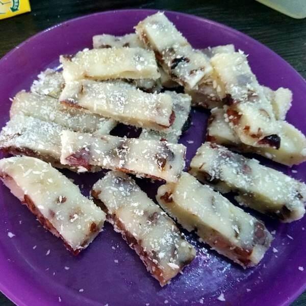 红枣核桃紫米年糕