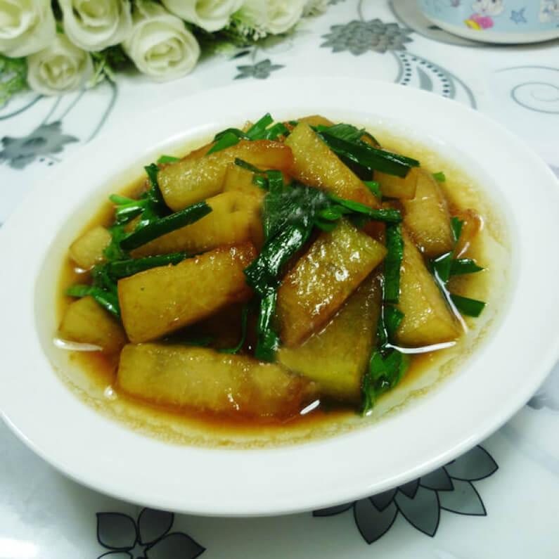 韭菜炒冬瓜