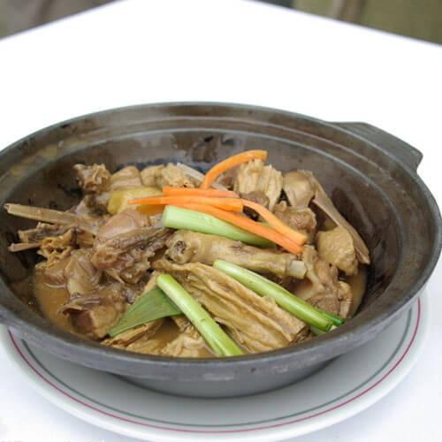 支竹焖鸭煲