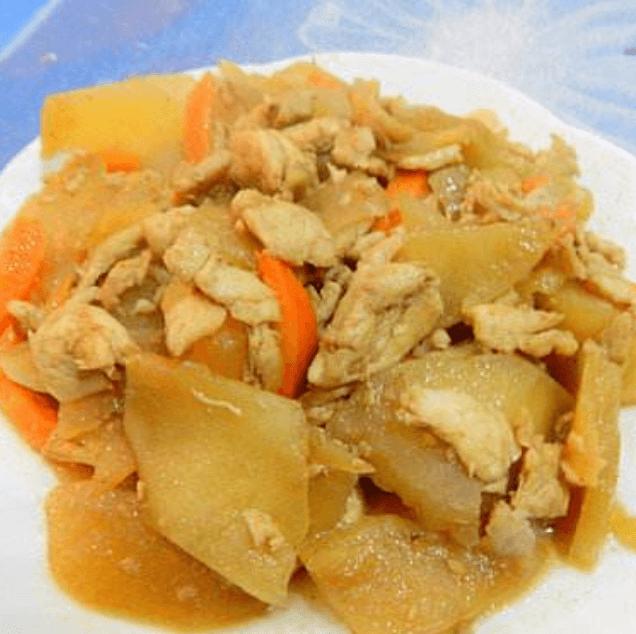 天山雪莲果炒鸡片