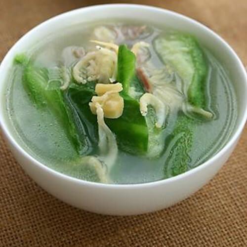 健康美味的丝瓜银鱼汤