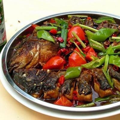 红薯叶子煮嫩子鱼