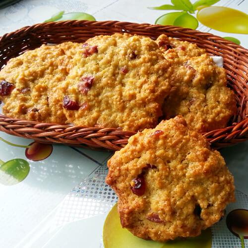 蔓越莓燕麦脆饼