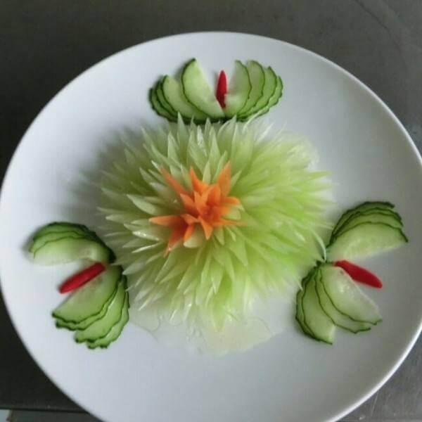 超美的黄瓜雕花
