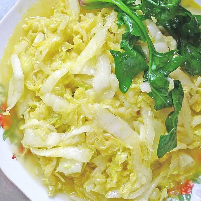 自制黄芽菜菜饭