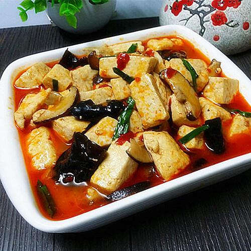 红油炖老豆腐