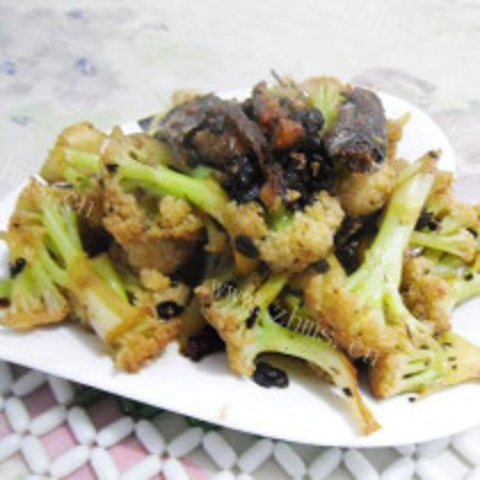 豆豉鲮鱼烧菜花