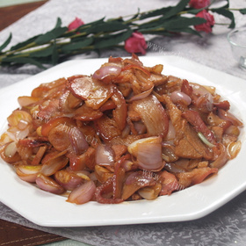 芝麻葱炒肉片