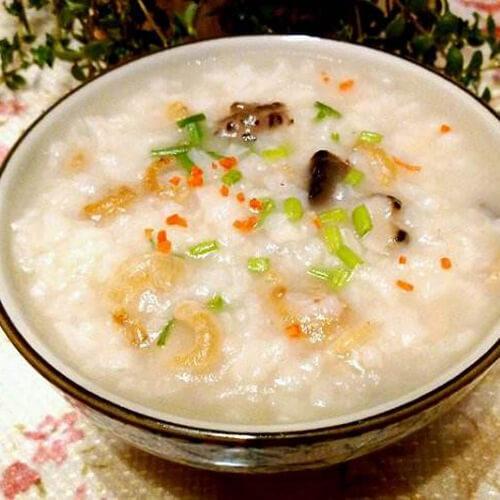 虾米鱿鱼螃蟹粥