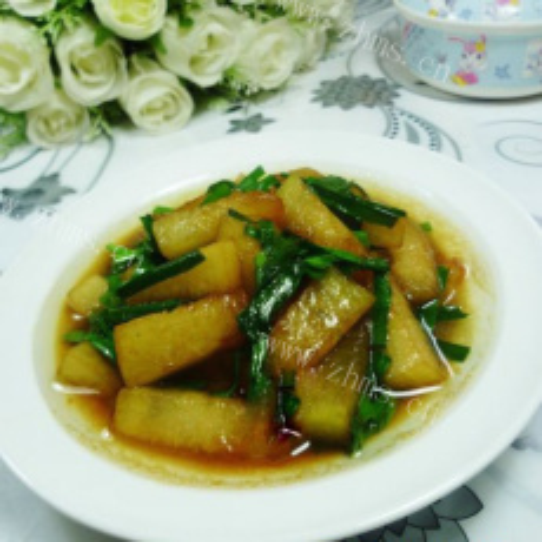 好吃的韭菜炒冬瓜