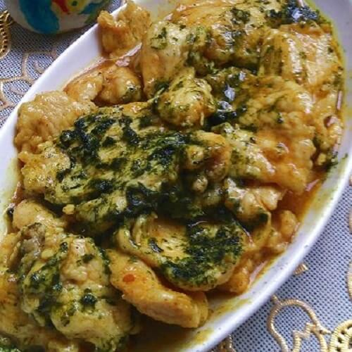 好吃的苔条咖喱鸡片