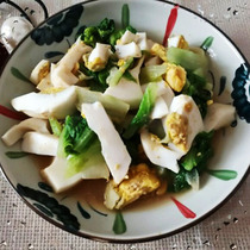 咸鹅蛋炒生菜