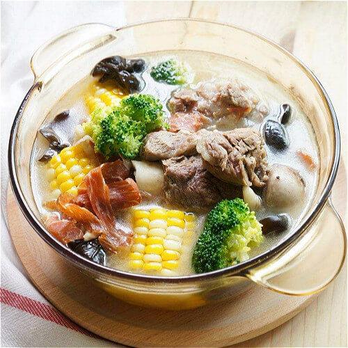 补钙菜心排骨汤