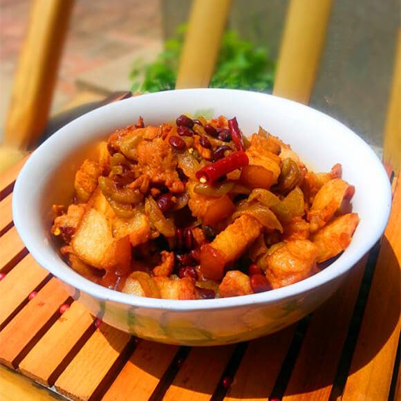 瓜圃豆豉焖肉