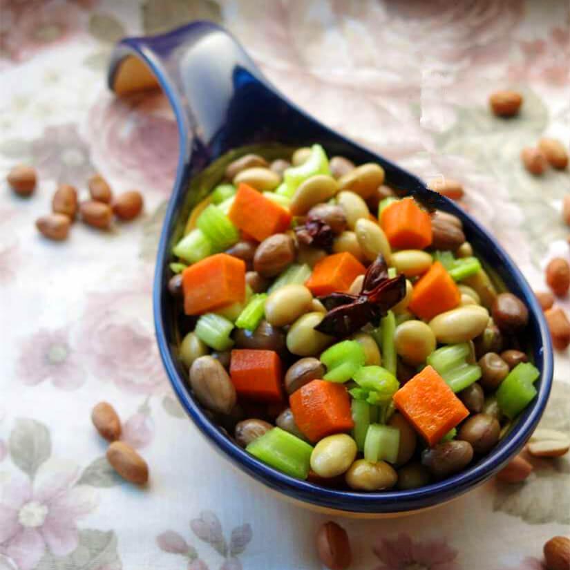 水煮花生米黄豆