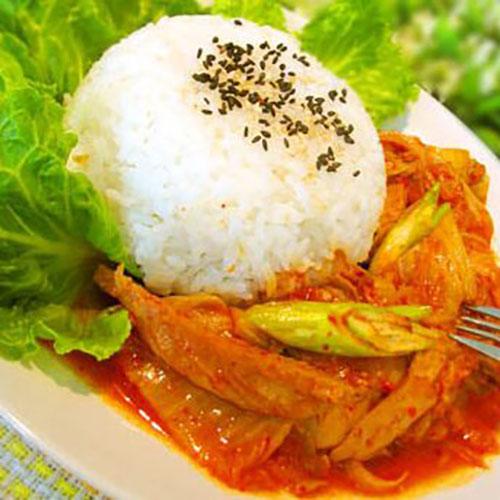美味的韩式泡菜饭