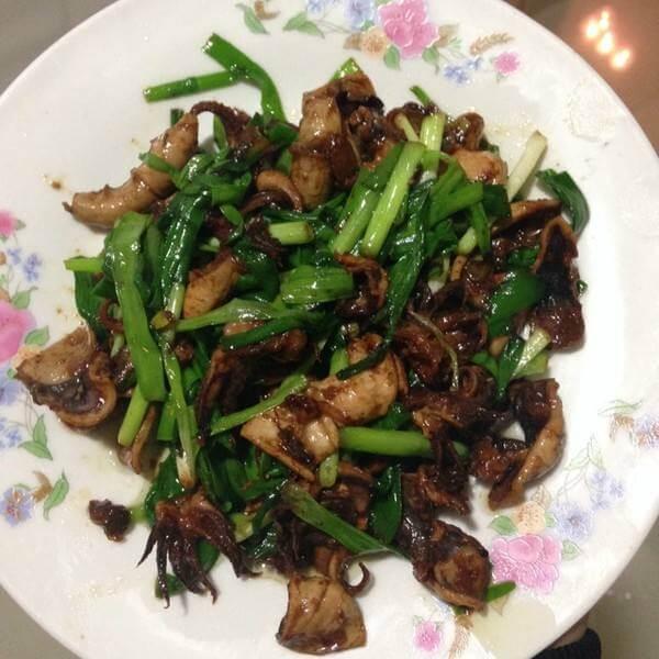 韭菜炒海兔须