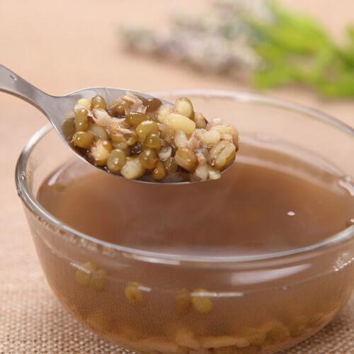 紫薯绿豆汤
