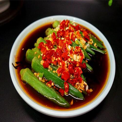 美味的剁椒蒸秋葵