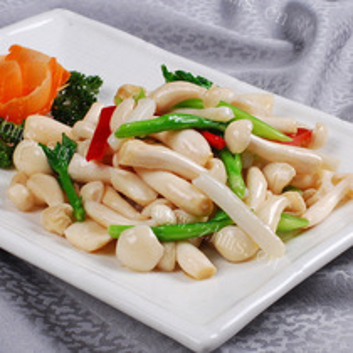 莴笋炒白玉菇