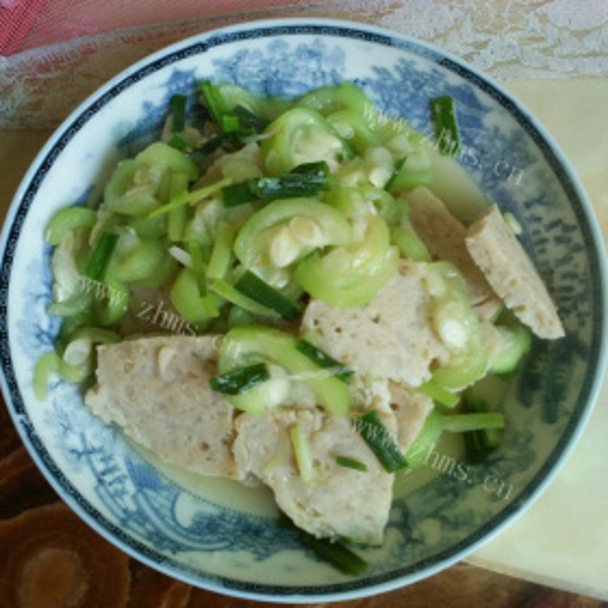 丝瓜炒肉饼