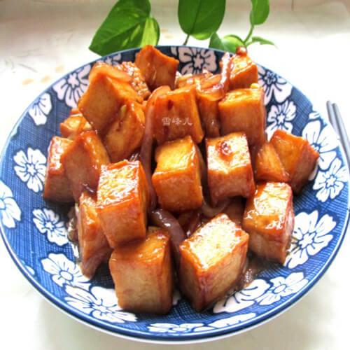 蚝油鱼豆腐