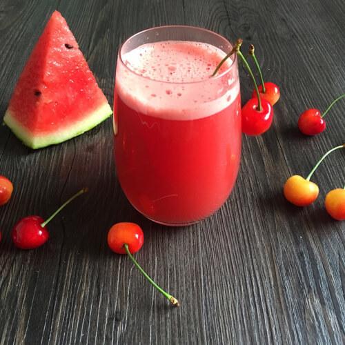 解暑西瓜樱桃果汁